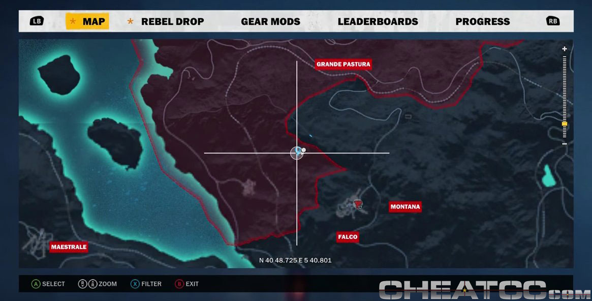 Just Cause  Locations Of All Car Challenges