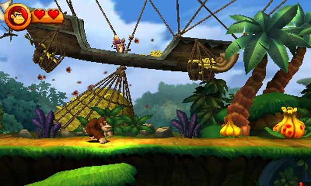 Donkey Kong Country Returns 3D Screenshot