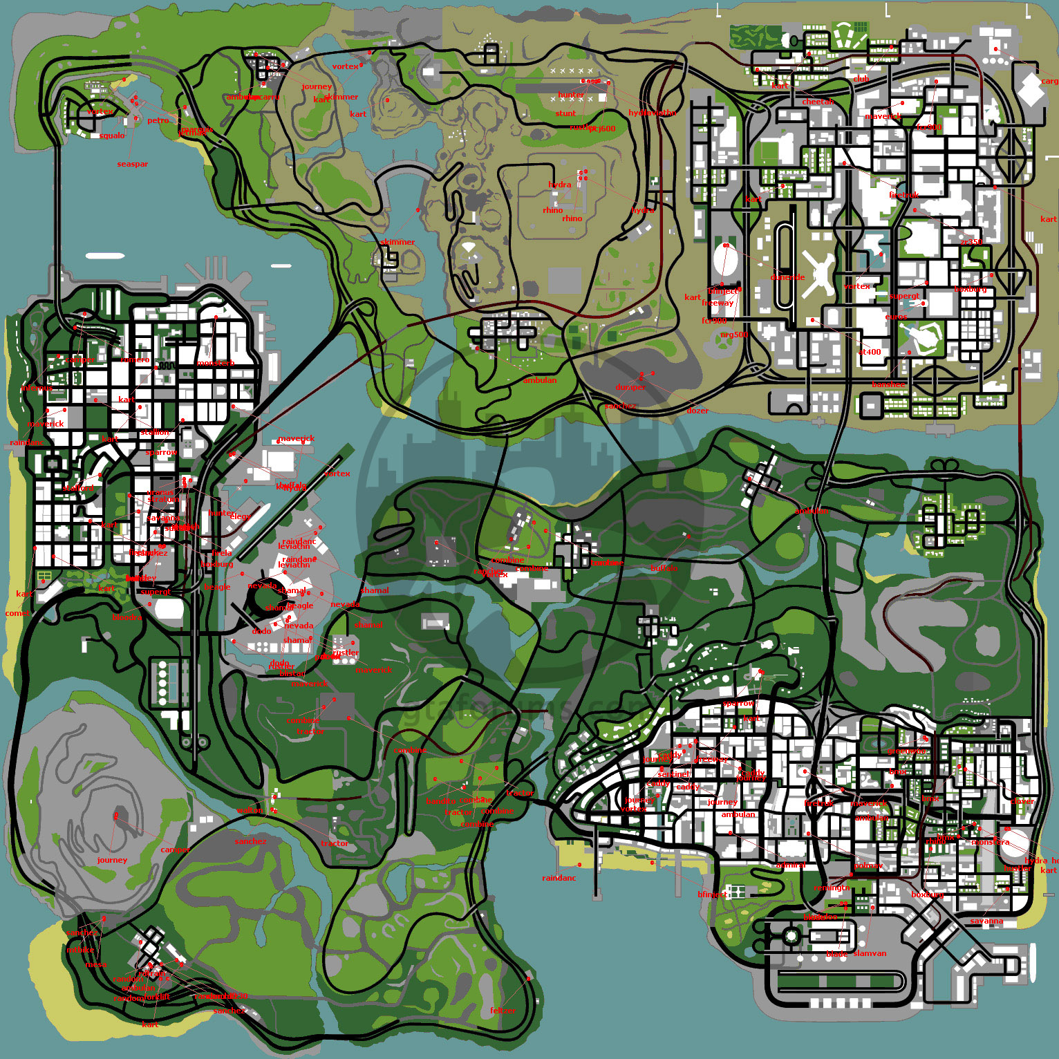 Grand Theft Auto San Andreas Maps Cheats Codes Cheat