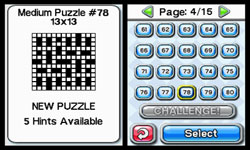 Crosswords DS screenshot