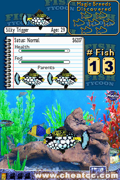 Fish tycoon review for the nintendo ds nds for Fish tycoon games