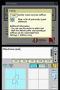 Nintendo DS Browser screenshot