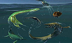 Giant Prehistoric Sea Creatures the size of giant bots