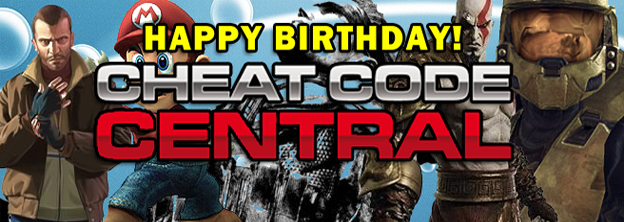 Happy Birthday, Cheat Code Central!