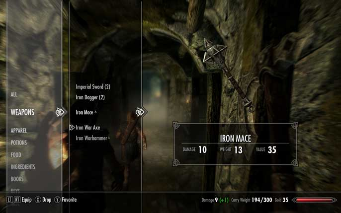 Skyrim And The Beauty Of A Good Menu