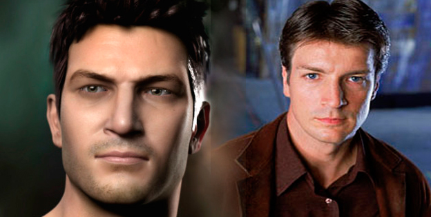 Nathan Drake and Nathan Fillion