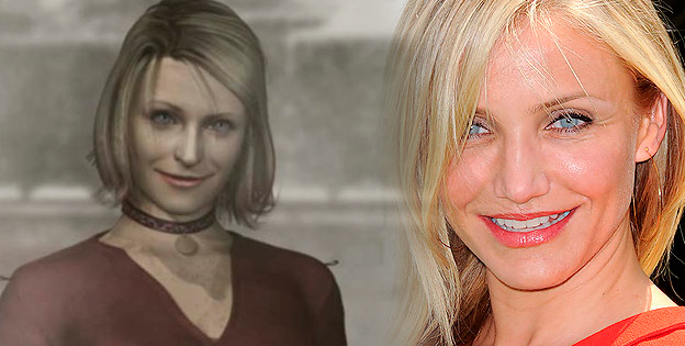 Maria (Silent Hill 2) and Cameron Diaz