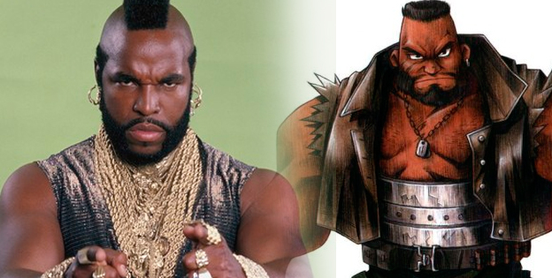 Barret Wallace and Mr. T