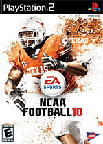 NCAA Football 10 box art