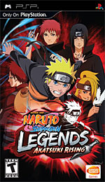 Naruto Shippuden: Legends: Akatsuki Rising box art