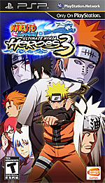Naruto Shippuden: Ultimate Ninja Heroes 3 box art