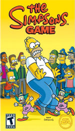 The Simpsons Game box art