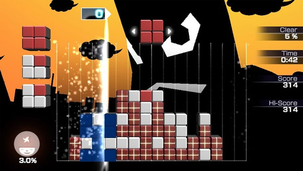 Lumines Electronic Symphony Screenshot