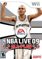 NBA Live 09: All-Play box art