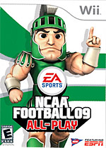 NCAA Football 09: All-Play box art